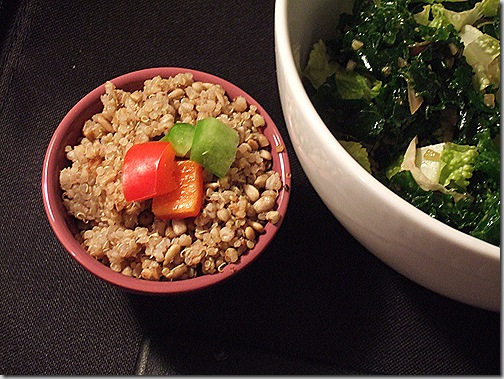 kale salad and no-barley chewy pilaf 014
