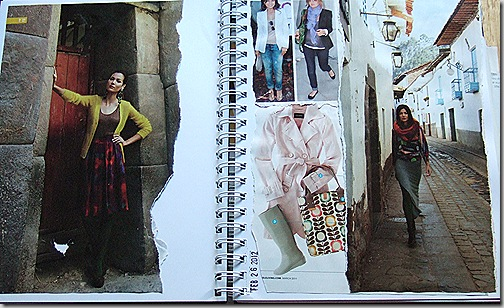 valerie's art journal page