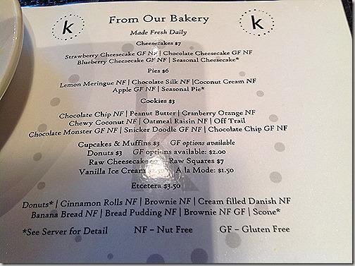 karyns dessert menu